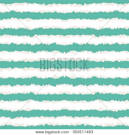 Indigo Vintage Stripe Vector Seamless Pattern. Gloss Watercolor Navy Scandinavian Texture. Drawn Ame