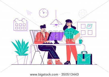 Programmers Or Coders Working Together. Front-end And Back-end Software Development And Testing, Pro