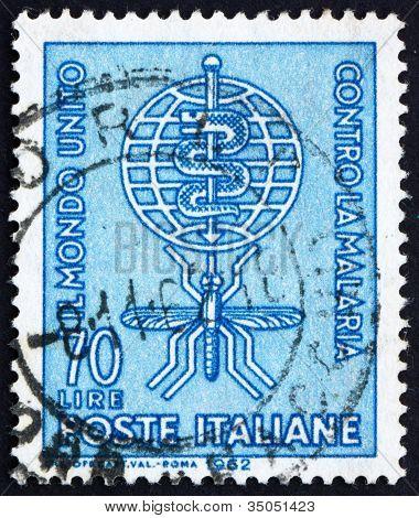 Postage stamp Italy 1962 Malaria Eradication Emblem
