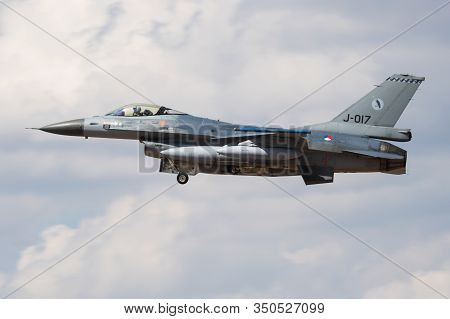 Fairford / United Kingdom - July 12, 2018: Netherlands Air Force Lockheed F-16am Fighting Falcon J-0