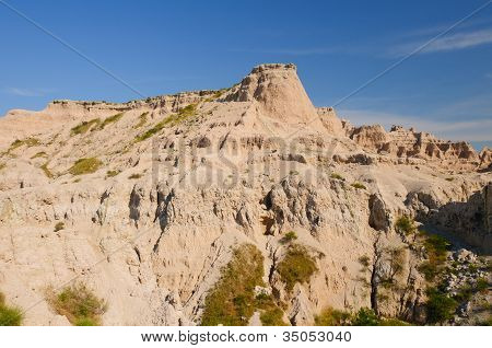 Weathered Escarpment In The Badlands