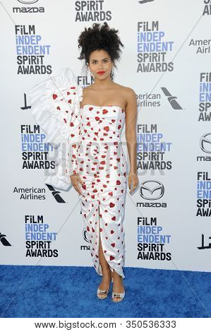 Zazie Beetz at the 35th Annual Film Independent Spirit Awards held at the Santa Monica Beach in Santa Monica, USA on February 8, 2020.