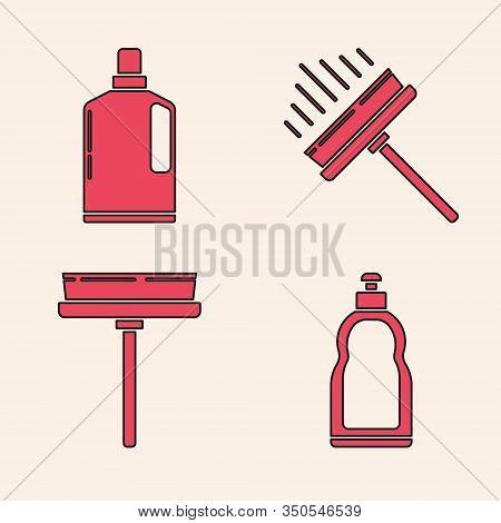 Set Plastic Bottles For Liquid Dishwashing Liquid, Plastic Bottles For Liquid Dishwashing Liquid, Sq
