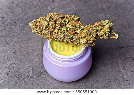 Cannabis Homemade Ointment And Bud