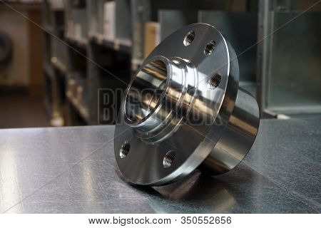 Details Of A Front Or Rear Susnension Of A Modern Car. New Wheel Hub Assembly With Bearing. New Orig
