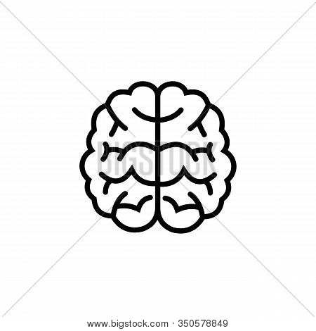 Brain Icon Isolated On White Background. Brain Icon In Trendy Design Style. Brain Vector Icon Modern