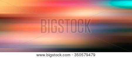 Abstract line de-focus soft horizontal background. Digital illustration.
