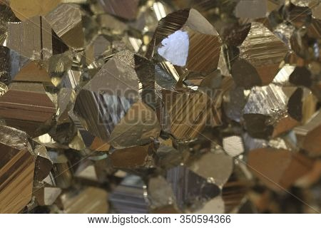 Pyrite Metal Mineral Texture As Very Nice Background