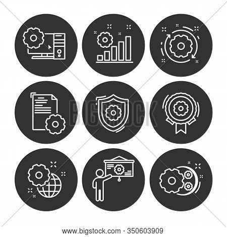 Process Icon Set. Collection Of Development, Engineer, Process, Data Mining Manufacturing, Engineer,