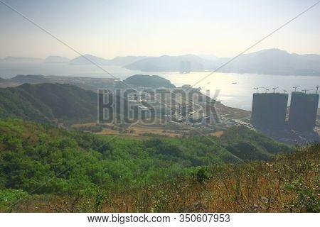 21 Dec 2008 , Siu Chik Sha,  View From High Junk Peak Country