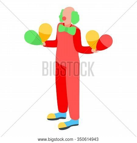 Party Clown Icon. Isometric Of Party Clown Vector Icon For Web Design Isolated On White Background