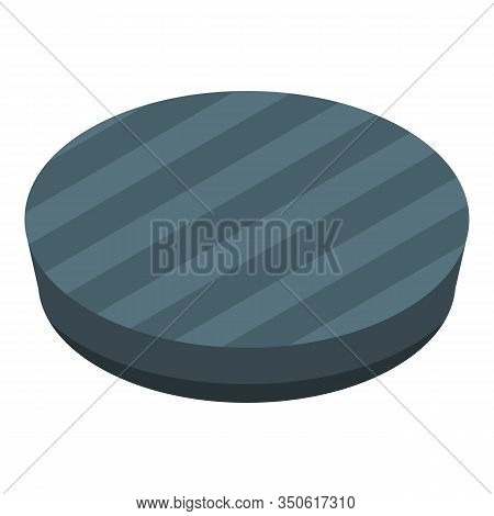 Black Burger Bun Icon. Isometric Of Black Burger Bun Vector Icon For Web Design Isolated On White Ba