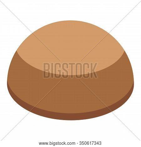 Burger Bun Cap Icon. Isometric Of Burger Bun Cap Vector Icon For Web Design Isolated On White Backgr