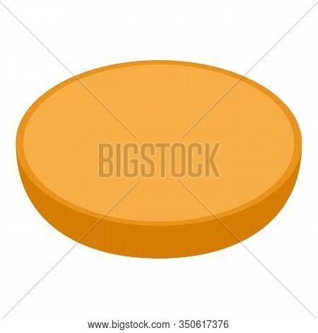 Fresh Bun Burger Icon. Isometric Of Fresh Bun Burger Vector Icon For Web Design Isolated On White Ba