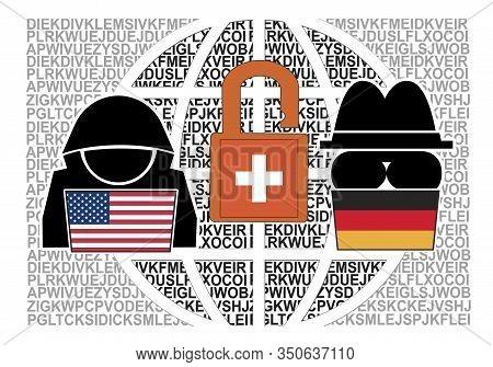 Joint Espionage Of America And Germany. Us And German Spies Read Top Secret Messages Of 120 Countrie