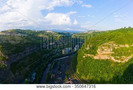 The City Of Chiatura And The Mining Plant And Manganese Ore Processing Plant Located In The Gorge Of