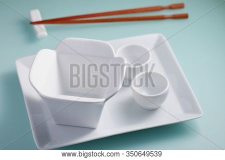 Asian porcelain styled like takeaway