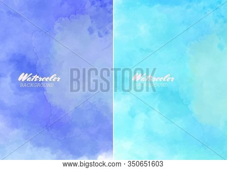 Hand Painted Watercolor Clouds Texture. Abstract Watercolor Background.