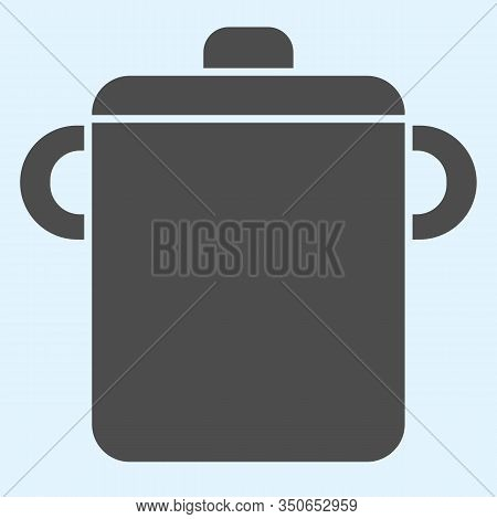 Pot Solid Icon. Saucepan For Brewing Food. Home-style Kitchen Vector Design Concept, Glyph Style Pic