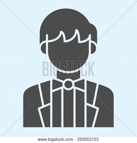 Groom Solid Icon. Newly Married Man In Black Jacket. Wedding Asset Vector Design Concept, Glyph Styl