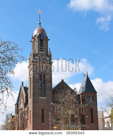 Building Of Remonstrant Church In Rotterdam, Netherlands