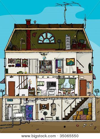 Old House Cross Section