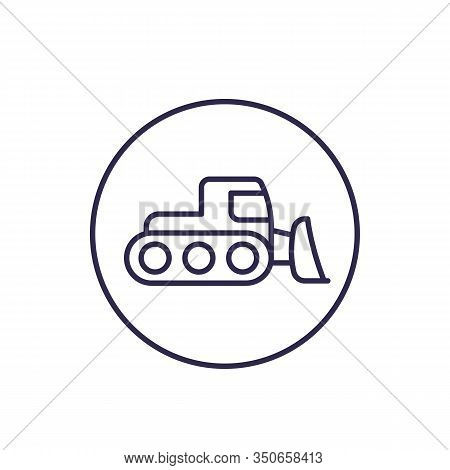 Snowplow Icon, Linear, Eps 10 File, Easy To Edit