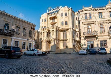 Baku, Azerbaijan January 27, 2020 - Old City Of Baku. Historical Core Of Baku