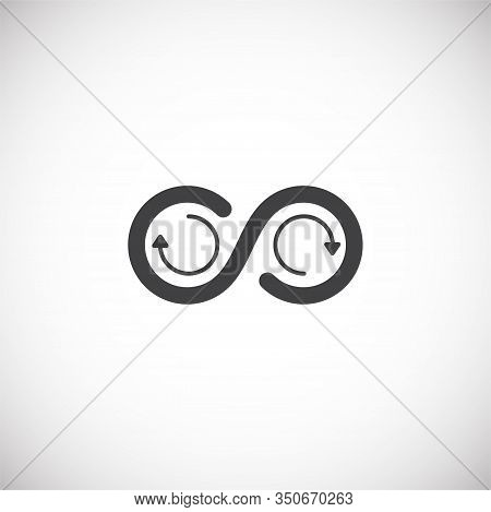 Infinity Sign Icon On Background For Graphic And Web Design. Creative Illustration Concept Symbol Fo