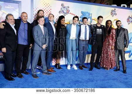 LOS ANGELES - JAN 12: Cast, Producers at the Sonic The Hedgehog Special Screening at the Regency Village Theater on February 12, 2020 in Los Angeles, California
