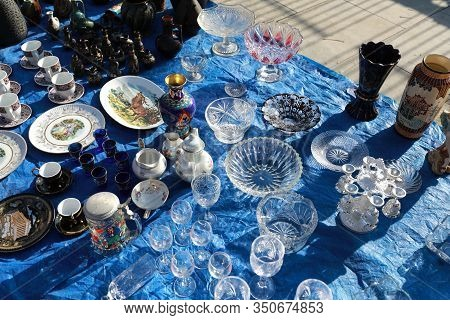 Secondhand Tableware In Swap Meet