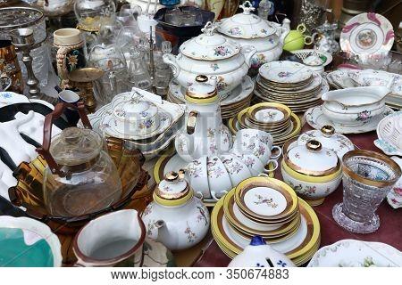 Vintage Coffee And Tea Sets In Swap Meet