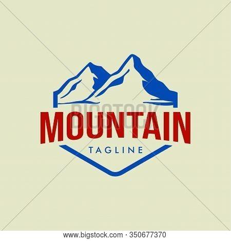 Mountain Logo, Mountain Logo Vector, Hills Logo, Mountain Symbol, Mountain Icon, Mountain Logo Templ