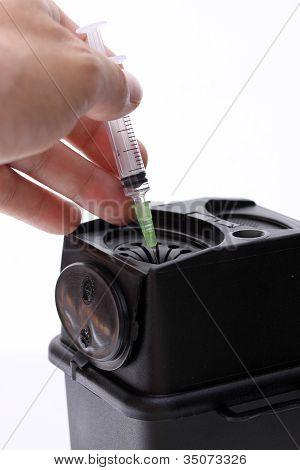 Disposing of syringe