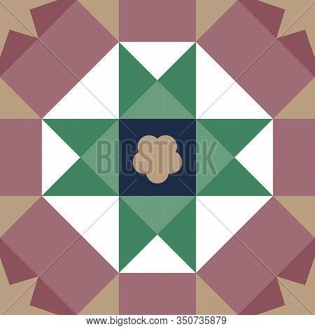 Baba & Nyonua Culture Malaysia. Vintage Peranakan Tiles Pattern In Georgetown Penang. Peranakan Cult