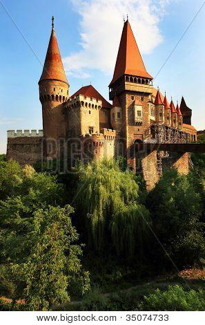 Corvinesti Castle, Hunedoara, Romania, Europe
