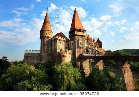 Corvinesti Castle, Hunedoara, Romania, Europe poster