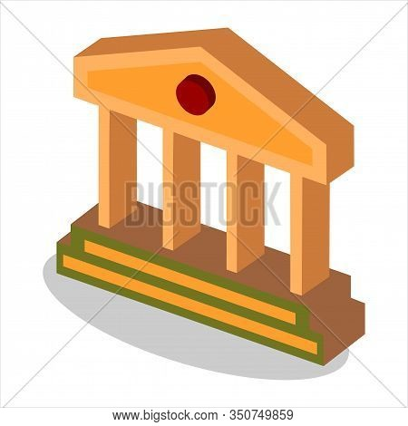 Isometric Court Icon Isolated On White Background From Law And Justice Collection. Court Icon Trendy