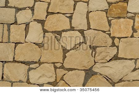 Background Of Decorate Sandstone Wall Surface