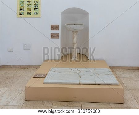 Jerusalem, Israel, January 25, 2020 : Exhibits At The Exhibition Of The Museum Of The Good Samaritan