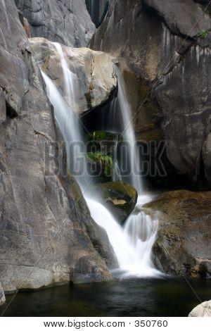 Yosemite  Bottom Of Brideveil Falls