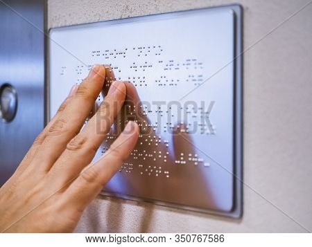 Braille Signage Alphabet Reading Blind Communication On Public Building Signage