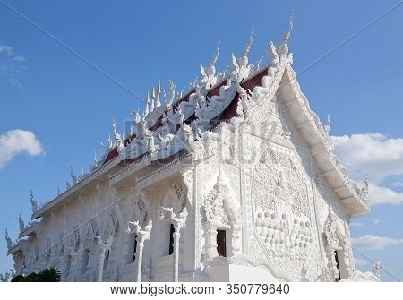 Exterior Of Wat Huay Pla Kang In Chiang Rai Province, Northern Thailand