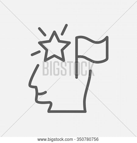 Self-confidence Icon Line Symbol. Isolated Vector Illustration Of Icon Sign Concept For Your Web Sit