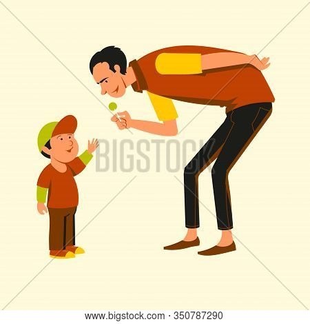 An Unknown Uncle Treats A Little Boy With Candy