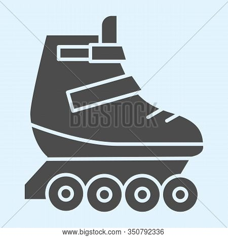 Rollers Solid Icon. Skates Roller Shoes. Sport Vector Design Concept, Glyph Style Pictogram On White