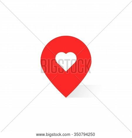 Pin Pointer Like Favorite Place. Concept Of Point Finder For Ecommerce Or Roadmap And Best Right Pat