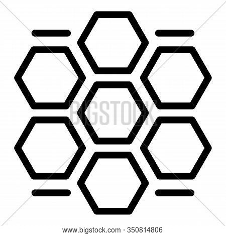 Honey Comb Procedure Icon. Outline Honey Comb Procedure Vector Icon For Web Design Isolated On White