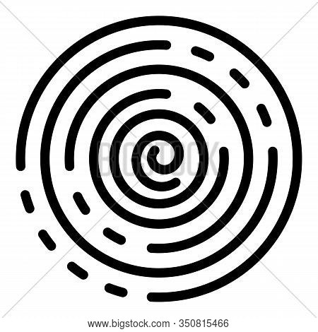 Spiral Hypnosis Icon. Outline Spiral Hypnosis Vector Icon For Web Design Isolated On White Backgroun