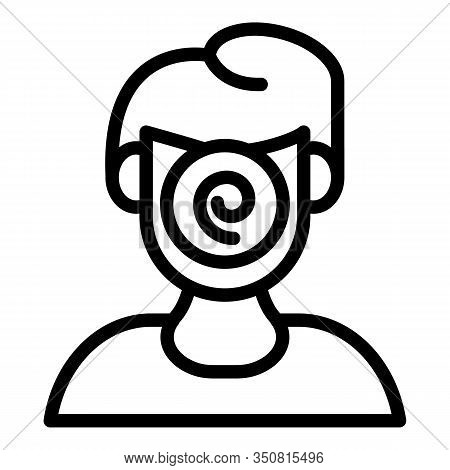 Face Hypnosis Icon. Outline Face Hypnosis Vector Icon For Web Design Isolated On White Background